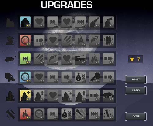 The Upgrade Screen